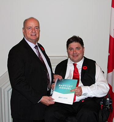 Veterans Ombudsman - Guy Parent with the Minister of Veterans Affairs and Associate Minister of National Defence - Kent Hehr
