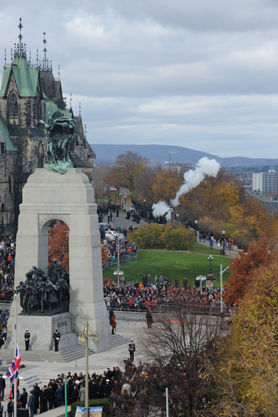 The 2011 National Remembrance Day Ceremony held in Ottawa on November 11, 2011.