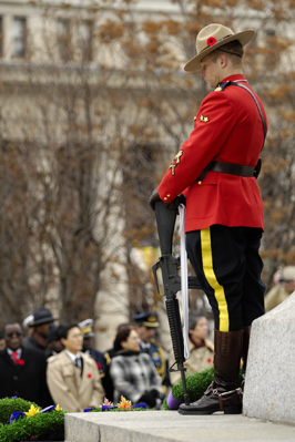 The Royal Canadian Mounted Police representative for the 2008 Sentry Program in Ottawa, Corporal Pitcher