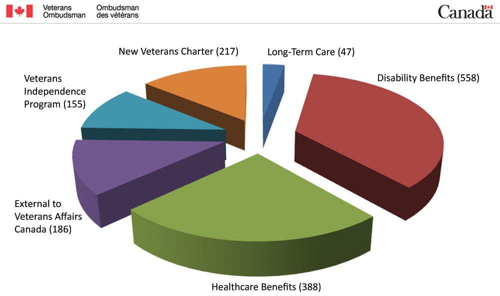 Pie Chart - Main issue areas - 83 percent of all 1,845 new cases