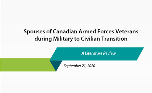 Spouses of Canadian Armed Forces Veterans during Military to Civilian Transition: A Literature Review