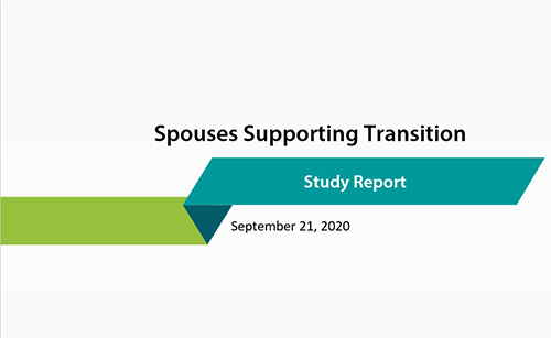 Spouses Supporting Transition: Study Report